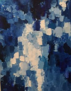 18x24 Blue Squared One